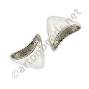 Bead Cone - Antique Silver Plated - 16x12.5mm - 4pcs