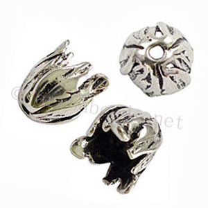 *Bead Cone - Antique Silver Plated - 18x15.5mm - 4pcs