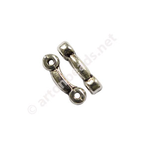 Divider - Antique Silver Plated - 2 Holes - 10.3x2.1mm - 100pcs
