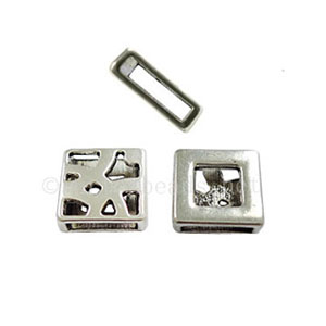 Slider - Antique Silver Plated - ID 10.46x2.19mm - 10pcs