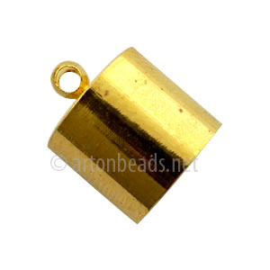 Glue-On Bellcap - 18k Gold Plated - 12mm - 10pcs