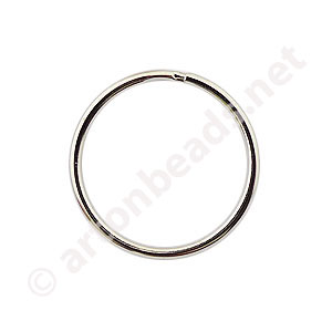 Key Ring - White Gold Plated - 20mm - 20pcs