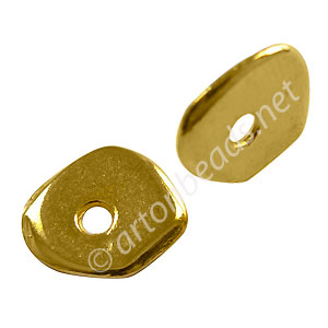 Base Metal Spacer Bead - 18k Gold Plated - 14x12mm - 15pcs