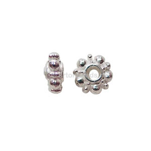 Base Metal Spacer Bead - 925 Silver Plated - 5mm - 60pcs