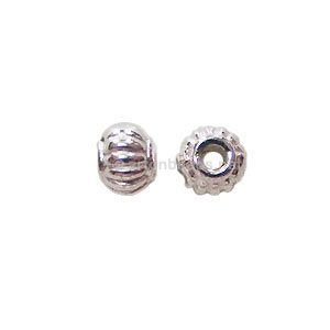 *Base Metal Spacer Bead - 925 Silver Plated - 5mm - 70pcs