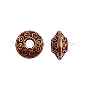 Base Metal Spacer Bead - Antique Copper Plated-3.4x6.5mm-50pcs