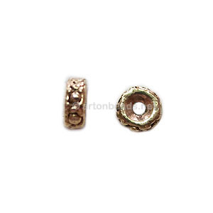 *Base Metal Spacer Bead - Antique Gold Plated - 5mm - 60pcs