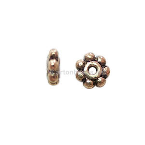 *Base Metal Spacer Bead - Antique Gold Plated - 6mm - 70pcs