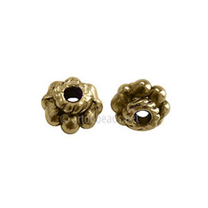 Base Metal Spacer Bead - Antique Gold Plated - 5x3mm - 70pcs