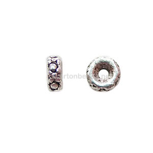 *Base Metal Spacer Bead - Antique Silver Plated - 5mm - 60pcs