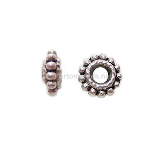 Base Metal Spacer Bead - Antique Silver Plated - 8mm - 40pcs