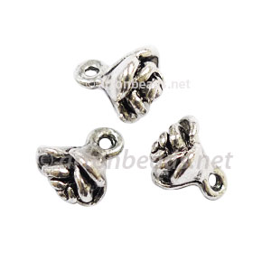*Base Metal Spacer Bead - Antique Silver Plated - 7mm - 40pcs