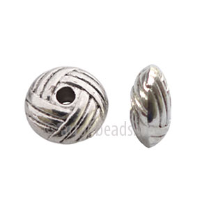 Base Metal Spacer Bead - Antique Silver Plated - 10mm - 20pcs
