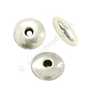 *Base Metal Spacer Bead - Antique Silver Plated-3.8x10mm-20pcs