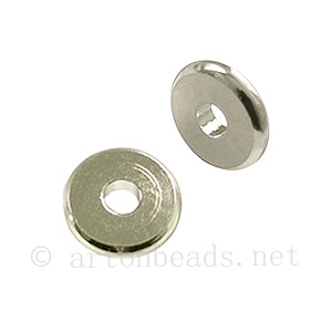 Metal Beads - 925 Silver Plated - ID 3mm - 20pcs