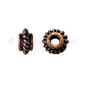 Base Metal Spacer Bead - Antique Copper Plated-3x5.7mm-40pcs