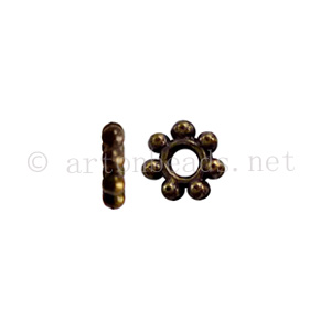 Base Metal Spacer Bead - Antique Brass Plated - 4mm-200pcs