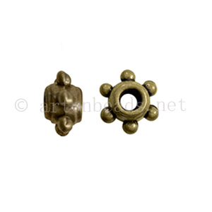 Base Metal Spacer Bead - Antique Brass Plated-3.3x5.6mm-50pcs