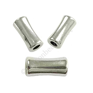 Tube/Bead - Antique Silver Plated - ID 2.5x11.8mm - 20pcs