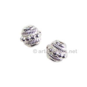 *Metal Bead - 925 Silver Plated - 6.8x7.3mm - 25pcs