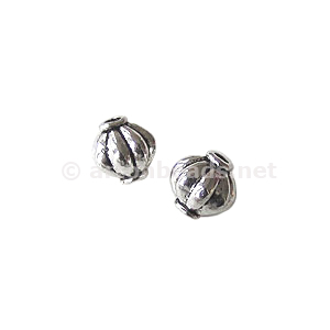 *Metal Bead - Antique Silver Plated - 7x7mm - 20pcs