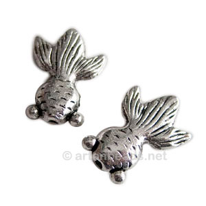 Metal Bead - Antique Silver Plated - 22.7x16.6mm - 6pcs