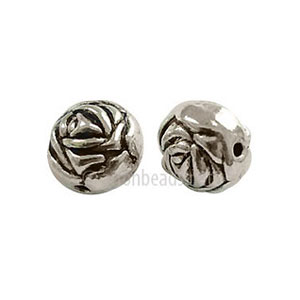 Metal Bead - Antique Silver Plated - 9.6x8.8mm - 10pcs