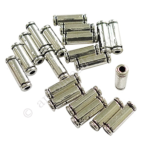 Tube/Bead - Antique Silver Plated - ID 1.5mm - 25pcs