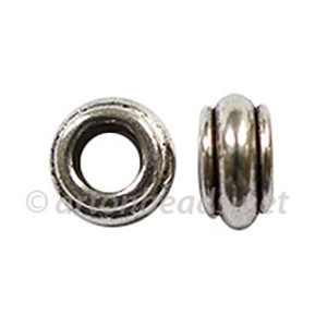 Large Hole Metal Bead - 5x9.4mm - 15pcs