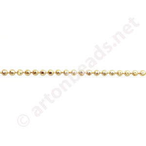 Ball Chain(1.5H) - 18K Gold Plated - 1.5mm - 1m
