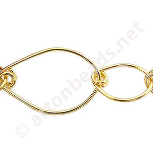 Chain(226519W) - 18K Gold Plated - 18X26mm - 1m