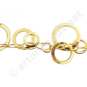 Chain(227165W) - 18K Gold Plated - 17mm - 1m