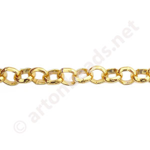 Chain(SH728) - 18K Gold Plated - 5x5mm - 1m