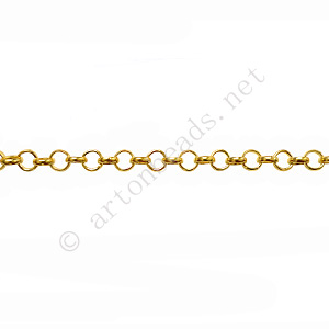 Chain(BL2.5) - 18K Gold Plated - 2.5x2.5mm - 2m