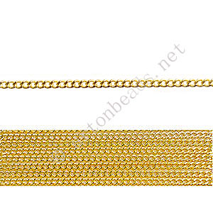 *Chain(145SF) - 18K Gold Plated - 1.45x1.8mm - 2m