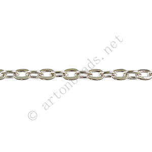 Chain(J0.7F+) - 925 Silver Plated - 2.6x3.6mm - 2m