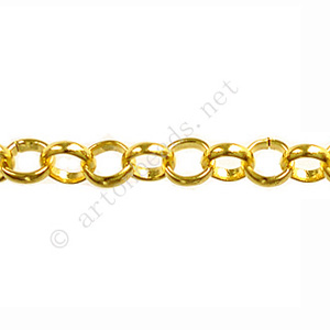 Chain(BL5.8) - 18K Gold Plated - 5.8x5.8mm - 1m