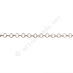 Chain(JBL2.0) - White Gold Plated - 2.0x2.0mm - 2m