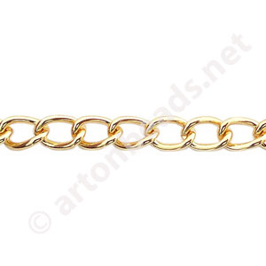 Chain(Y1802) - 18K Gold Plated - 5.1x6.7mm - 1m