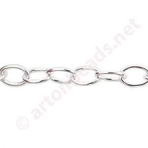 Chain(Y1908) - 925 Silver Plated - 5.8x8.2mm - 1m