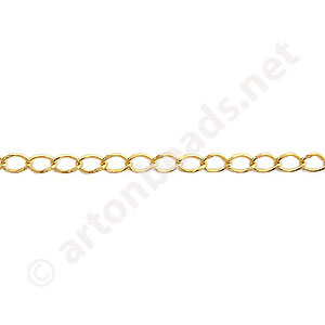 Chain(J150LBF) - 18K Gold Plated - 2.3x3.7mm - 2m