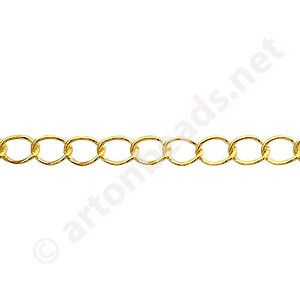 Chain(160BSA) - 18K Gold Plated - 3.7x5.1mm - 2m