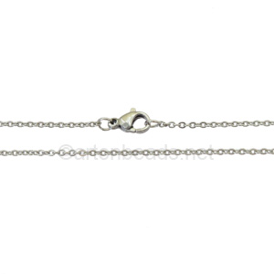 "Link Chain(250)with Clasp-Stainless Steel(1.66x2.22mm)-19""-10pcs"