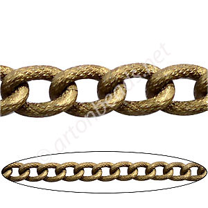Aluminum Chain(#1) - Antique Brass Plated - 9.2x13.9mm - 1M