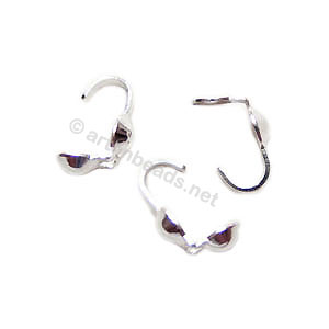 Sterling Silver Knot Cover - 3.5mm - 8pcs