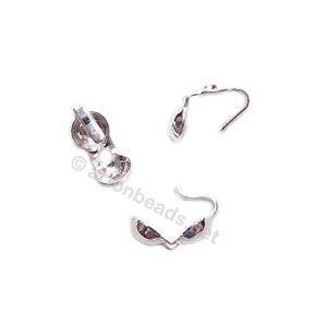 Sterling Silver Knot Cover - 3mm - 6pcs