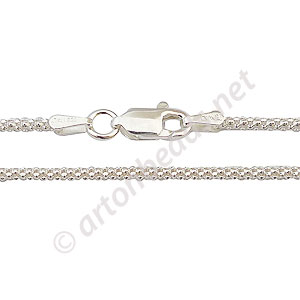 "Sterling Silver Pre-made Chain - Rope - 18"" - 1 Strand"