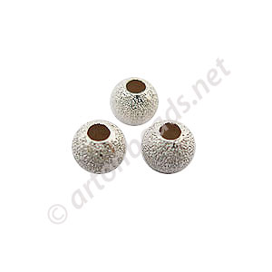 Sterling Silver Beads - Star-dust Round - 4mm - 15pcs