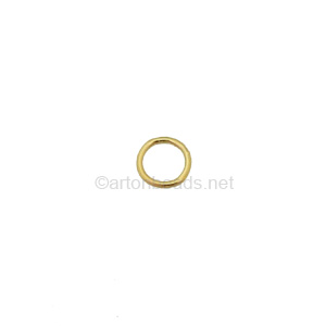 14K Gold Filled Soldered Ring - 6mm - 6pcs