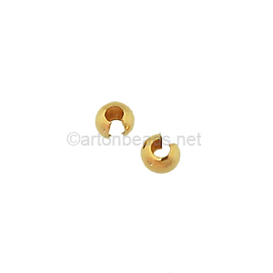 14K Gold Filled Crimp Cover - 3mm - 8pcs